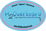 H2Overboard Oval Sticker - Light Blue/Light Pink - Stickers - H2Overboard - 5