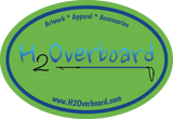 H2Overboard Oval Sticker - Lime Green/Blue - Stickers - H2Overboard - 11