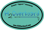 H2Overboard Oval Sticker - Mint/Black - Stickers - H2Overboard - 7