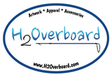 H2Overboard Oval Sticker - White/Blue - Stickers - H2Overboard - 2
