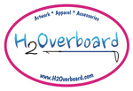 H2Overboard Oval Sticker - White/Hot Pink - Stickers - H2Overboard - 8