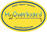 H2Overboard Oval Sticker - Yellow/Blue - Stickers - H2Overboard - 9