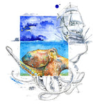 Greeting Card - The Kraken - Single - Greeting Card - Amber M. Moran - 2