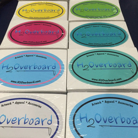 H2Overboard Oval Sticker -  - Stickers - H2Overboard - 1