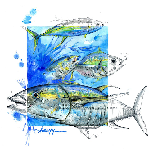 Greeting Card - Tuna Run - Single - Greeting Card - Amber M. Moran