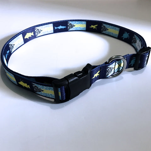 Wading Belt - Bahamian Flag on Polyester Webbing