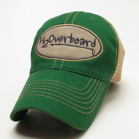 H2Overboard Trucker Hat - Kelly Green w/ beige mesh - Hats and Visors - H2Overboard - 6