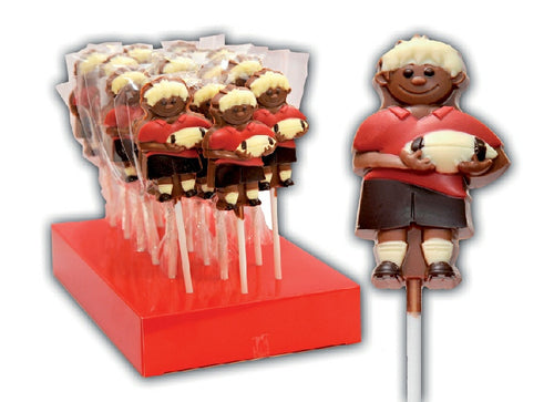 Rugby Player Chocolate Lollipop