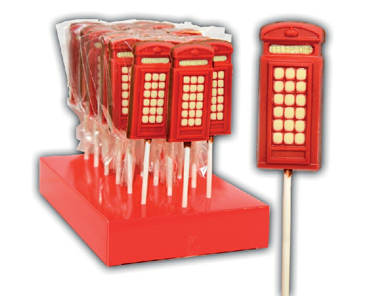 London Telephone Box Lollipop