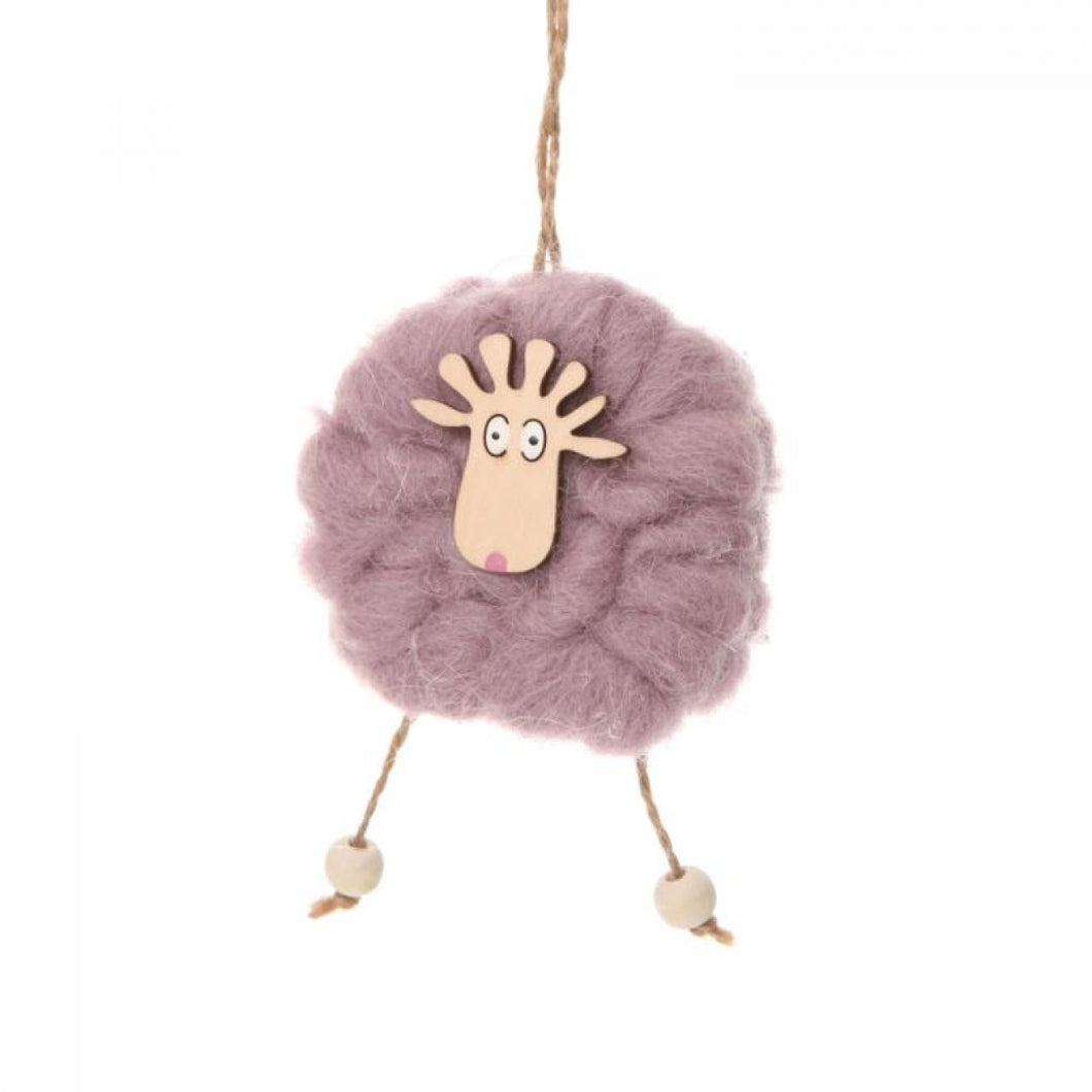 Woolly Sheep Hanging Ornament