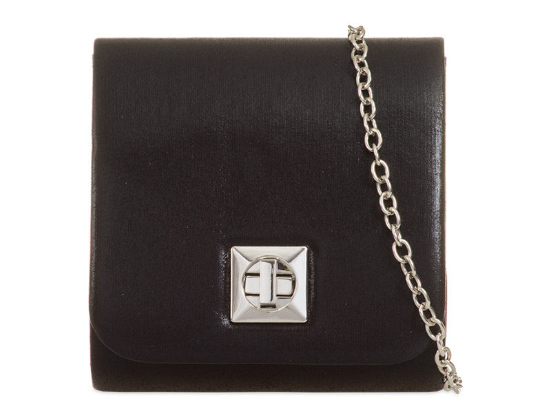 Satin Mini Bag/Shoulder Bag -Colour Black