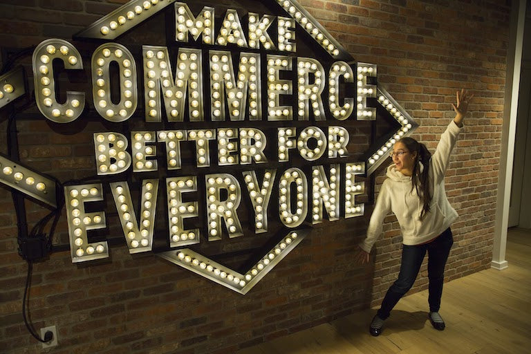 Lisa Vanderschuit getting hyped about making commerce better for everyone