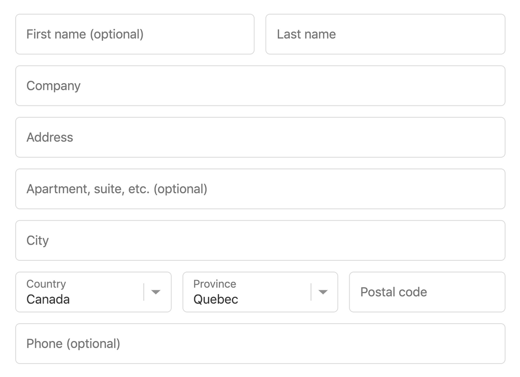 Handling Addresses from All Around the World – Shopify