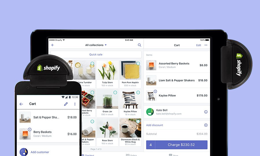 The image was used to showcase our Shopify POS software on shopify.com, however it misrepresented our product when our POS software was updated and rebranded.