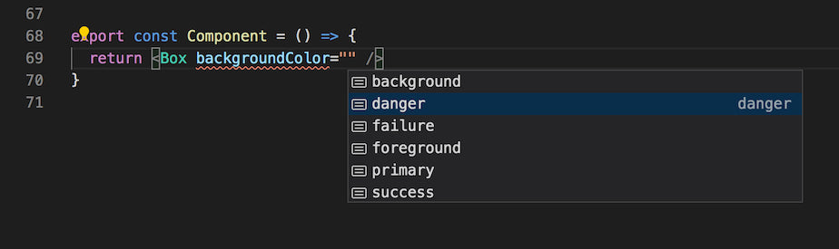 Using the prop validation mechanisms of TypeScript
