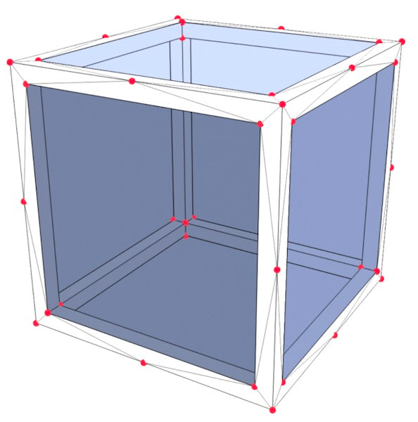 Vertices are highlighted in red