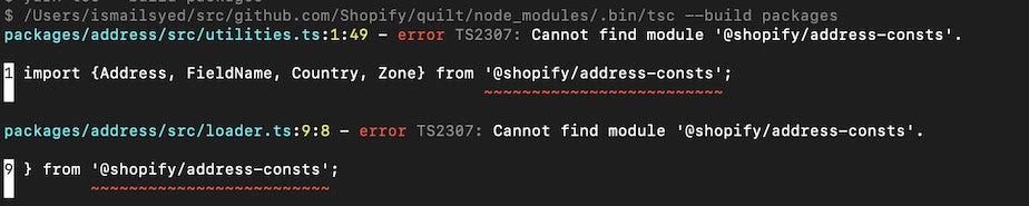 Compiler can't find a module the project is referencing