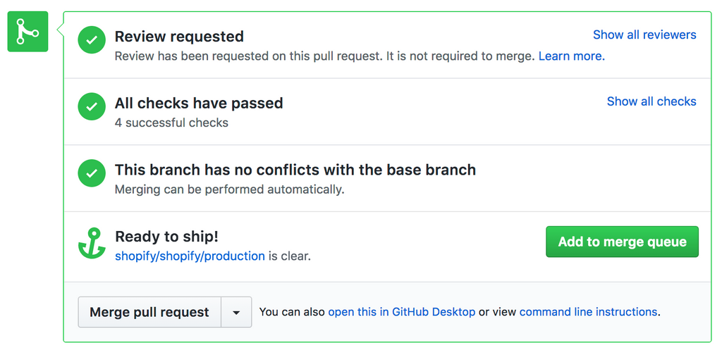 Introducing the Merge Queue - Merge Pull Request