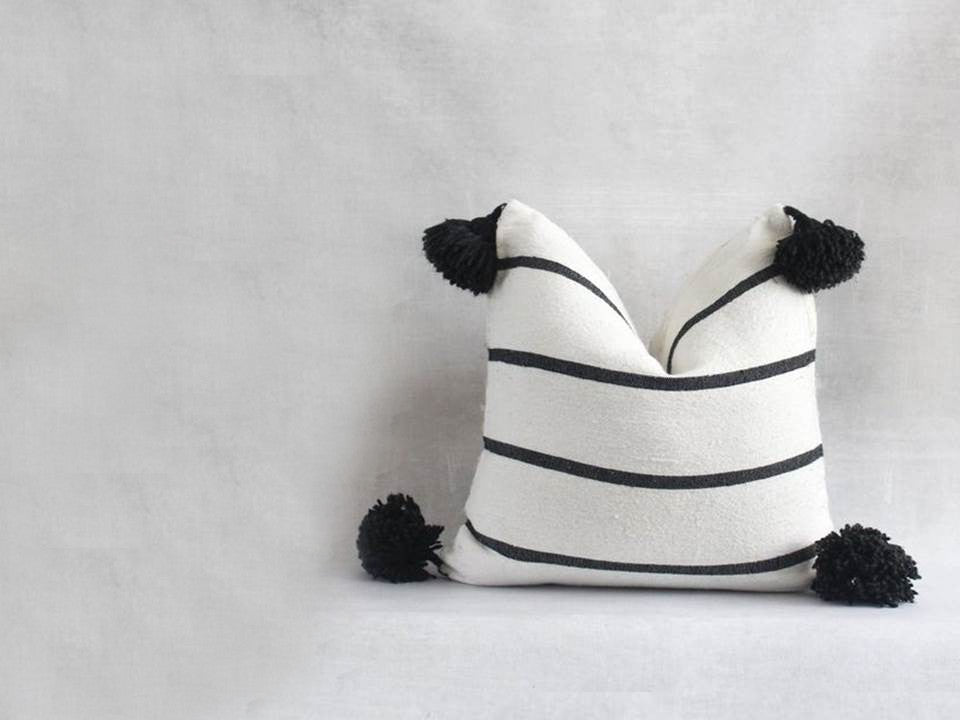 Black and White Decorative Pillows and Cushion Covers | Moroccan Corridor