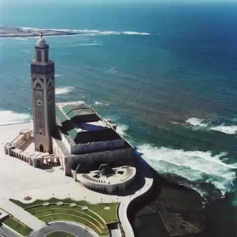 Hassan II Mosque - From Air - Moroccan Corridor