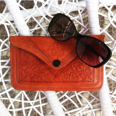 Moroccan Corridor - Burnt Orange Leather Wallet