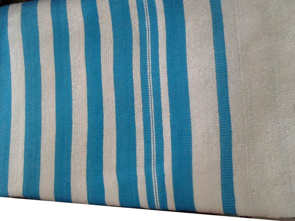 Mendil - Beach Towel - Turquoise Thick Stripes - Blanket Mendil | Moroccan Corridor