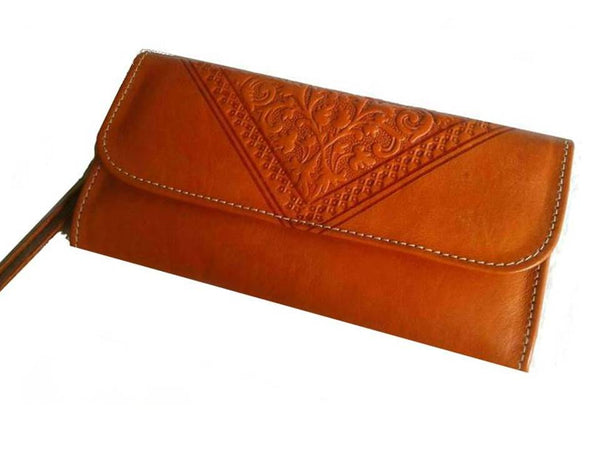 Club Morocco Wallet - Orange - Wristlet