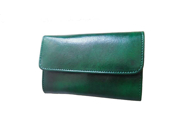 Club Morocco Leather Wallet - Small - Green