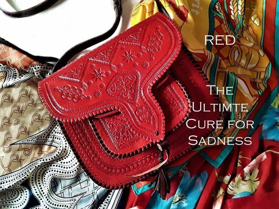 Red Leather Bags - Moroccan Corrdior