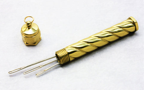 Needle Case - Spiral - Brass