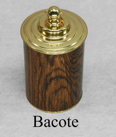 Thimble Case - Brass + Wood