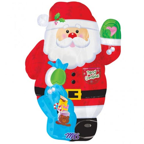 Mini Santa foil balloon - 18 inch