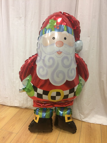 94cm Santa Airwalker Helium Filled