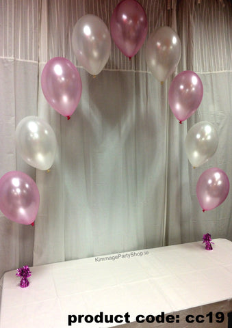 Communion Pearl Balloon Arch