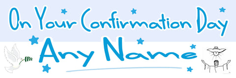 Confirmation Personalised Banner Blue