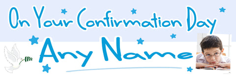 Confirmation Photo Banner Blue