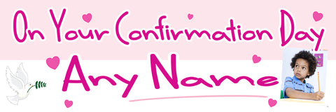 Confirmation Photo Banner Pink
