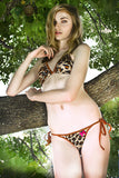 MAW photography model in leopard string bikini