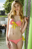 MAW photography model in pink pus up bikini