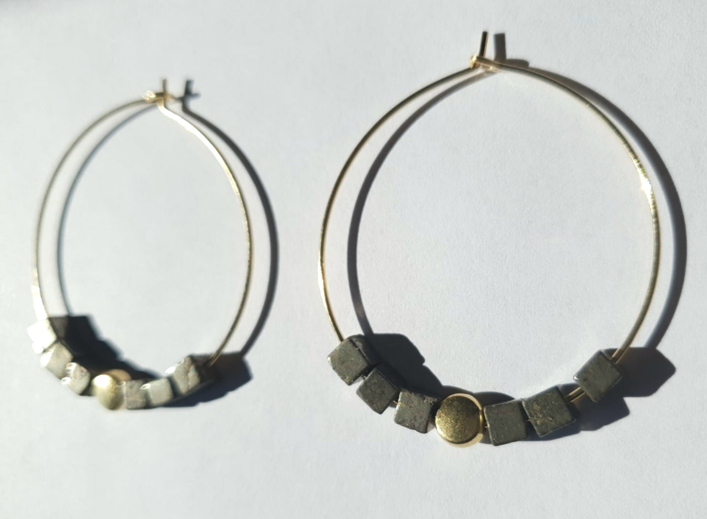 Cubed Pyrite Hoops