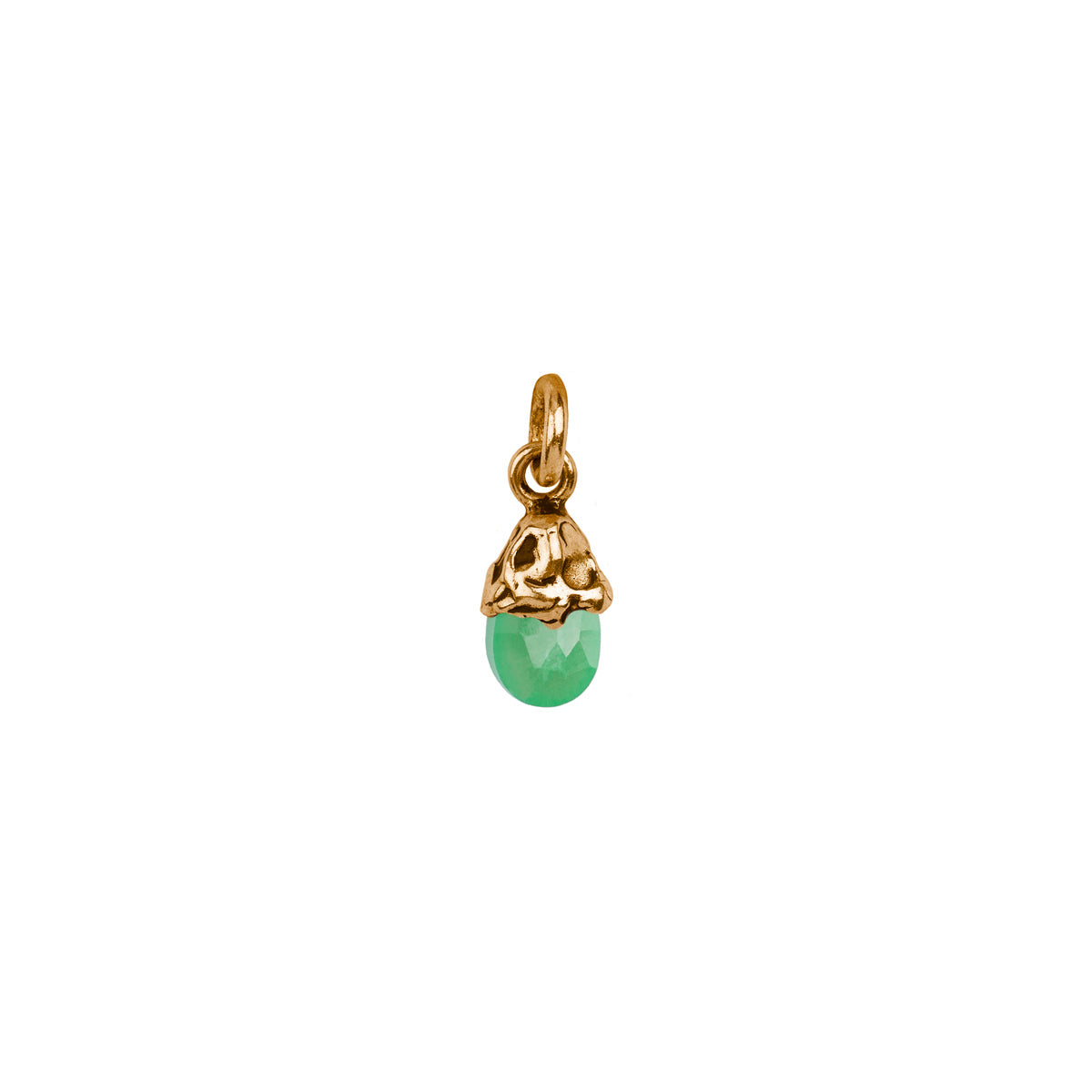 Healing Chrysoprase Capped Attraction Charm