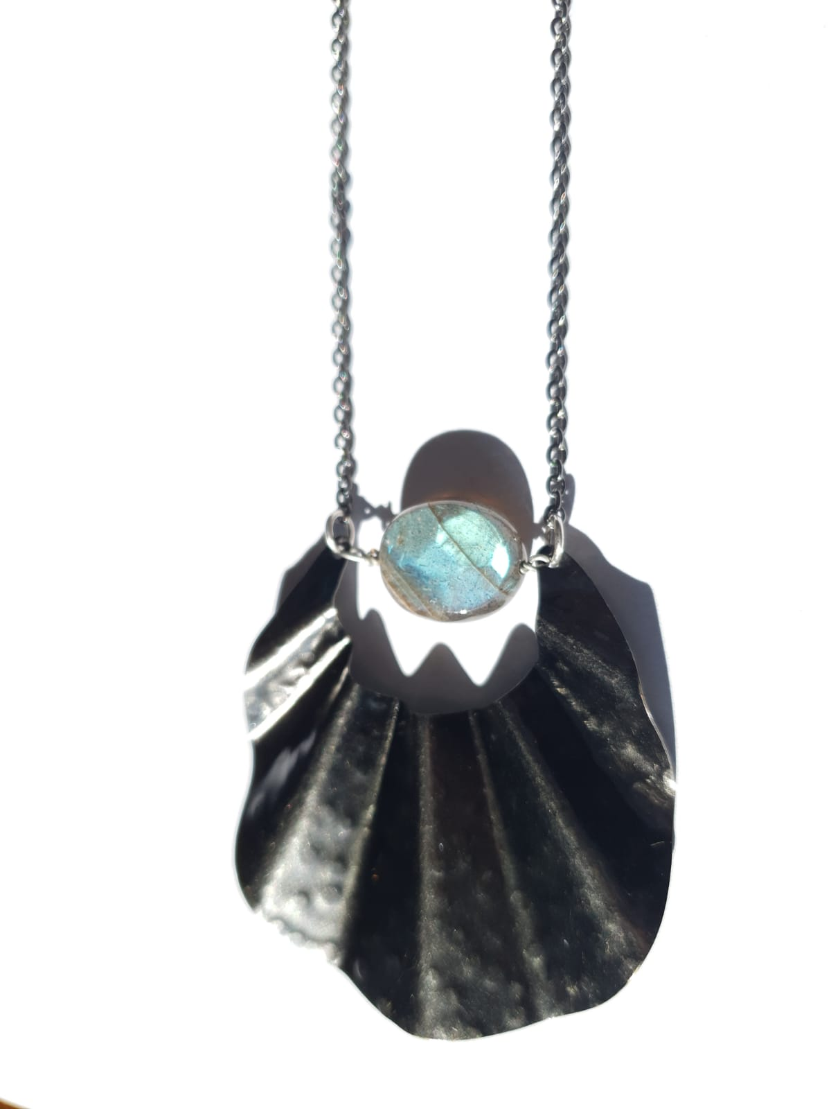 Dark Fin with Labradorite Necklace