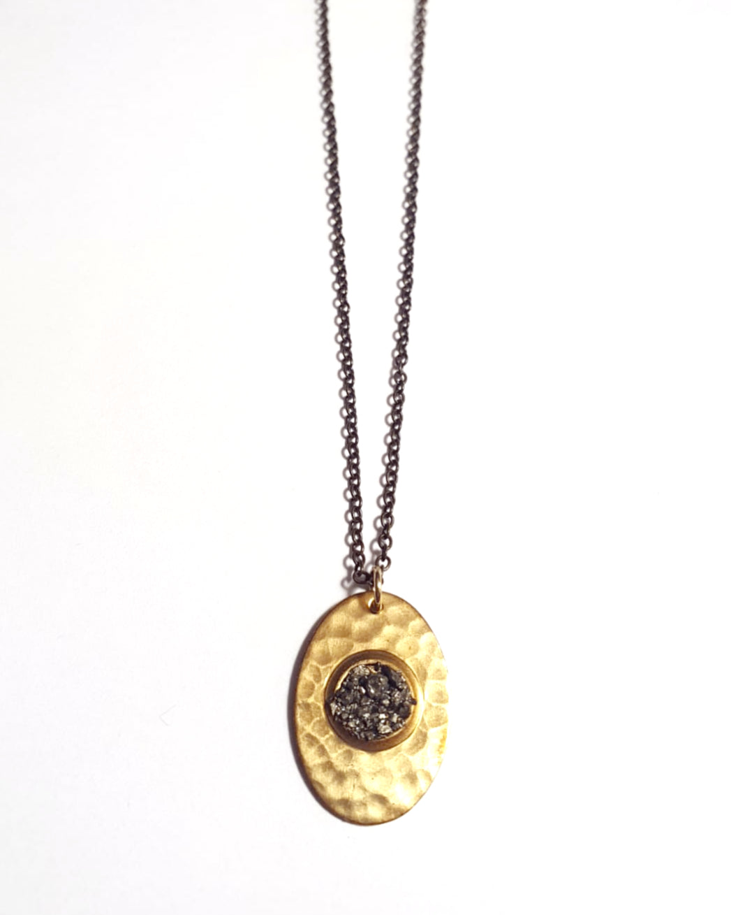 Pyrite Shield Necklace