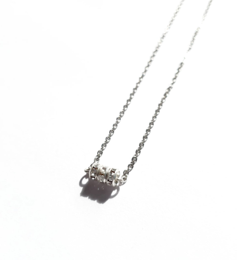 Tiny Crystal Ring Necklace