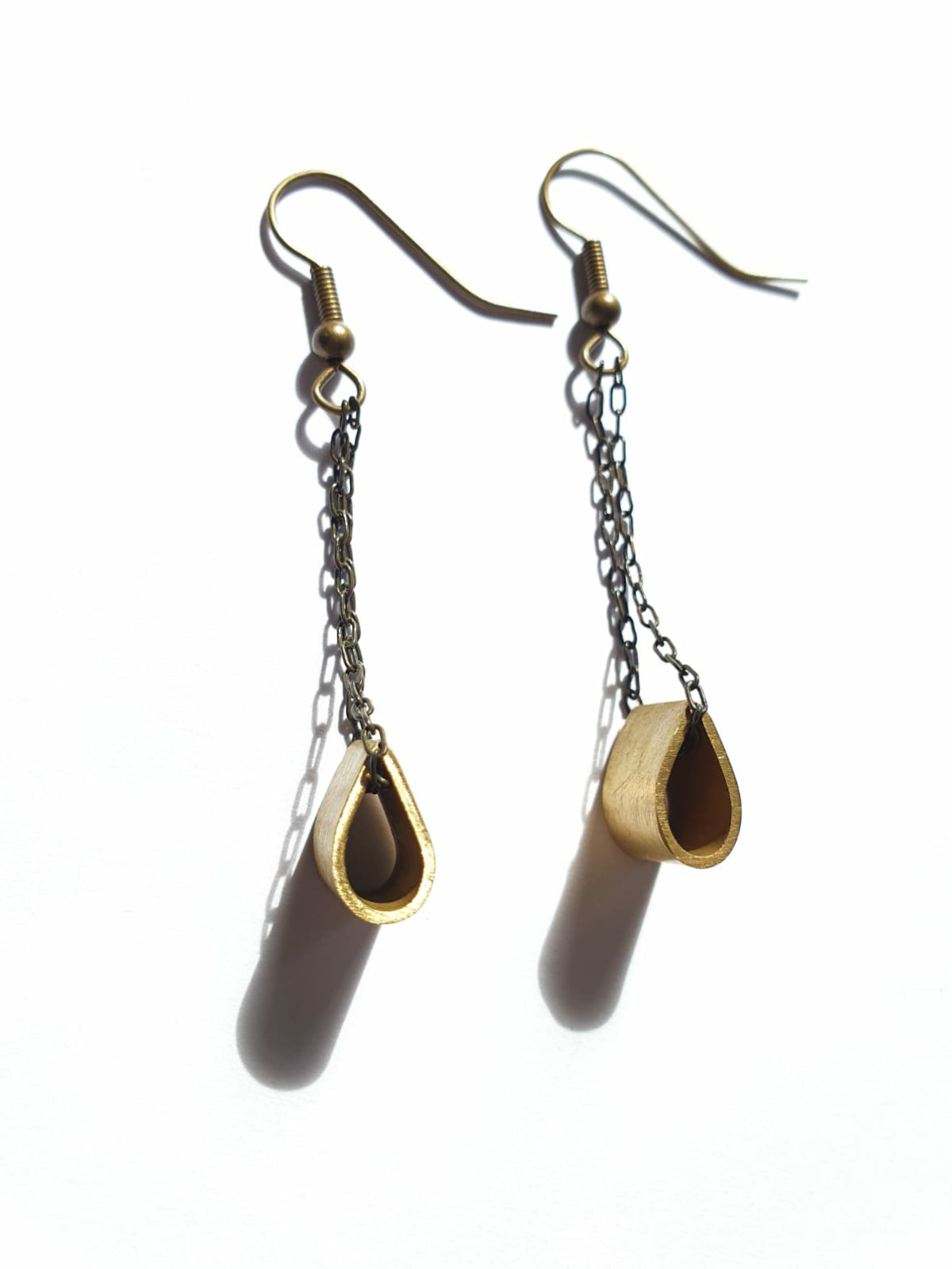 Brass Pinch Earrings