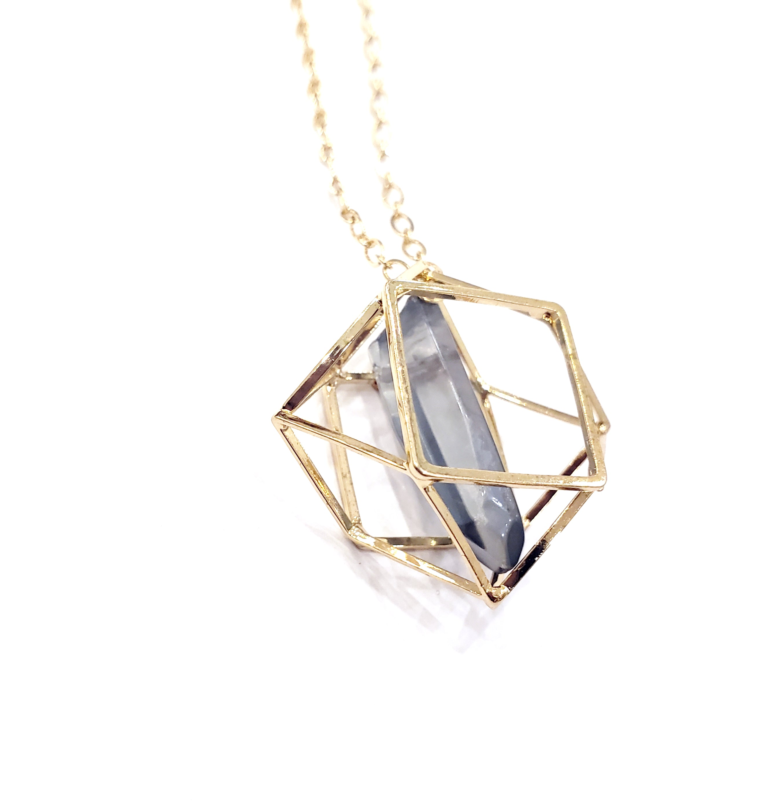 Caged Aura Quartz