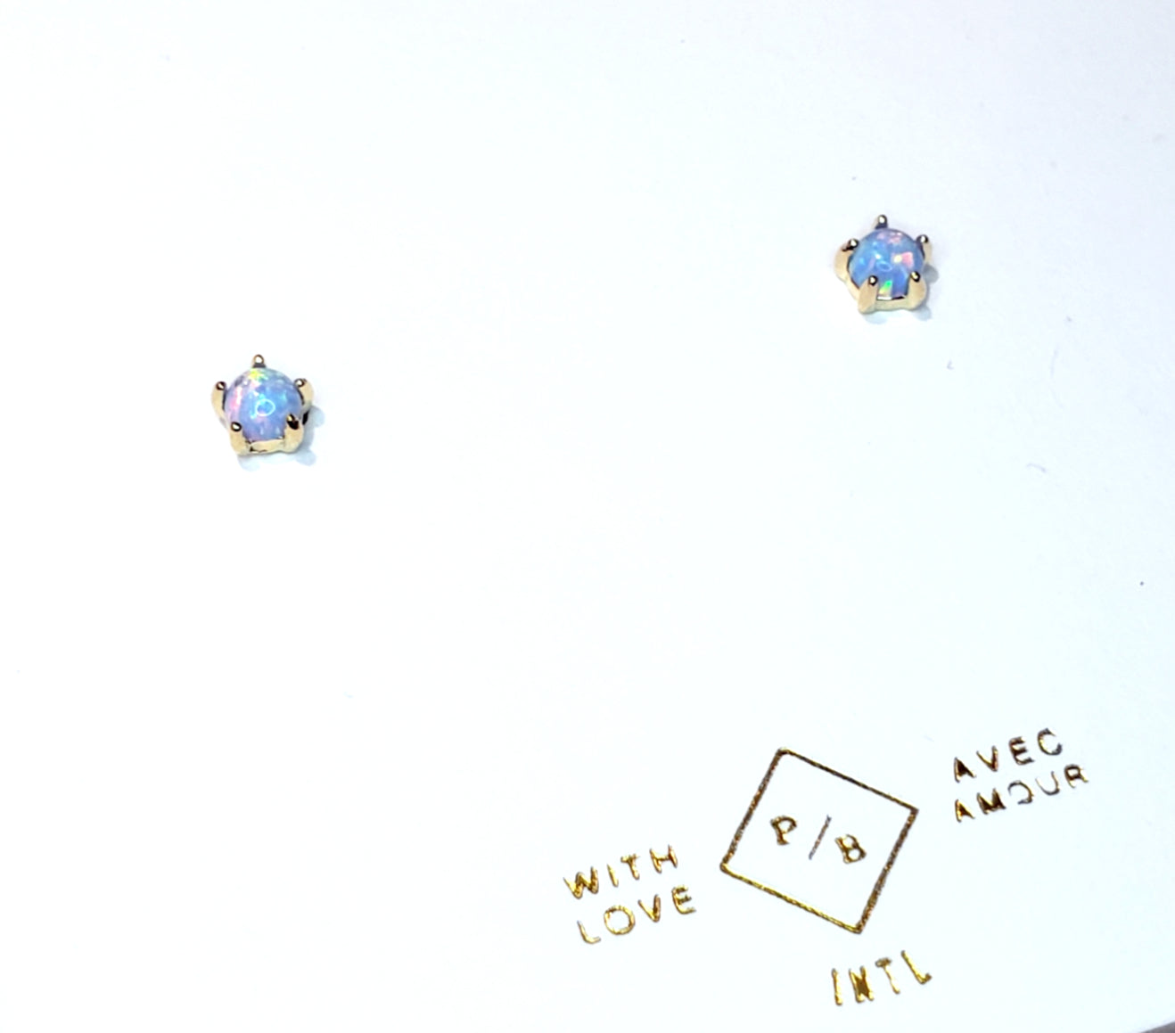 Opal and Gold Studs