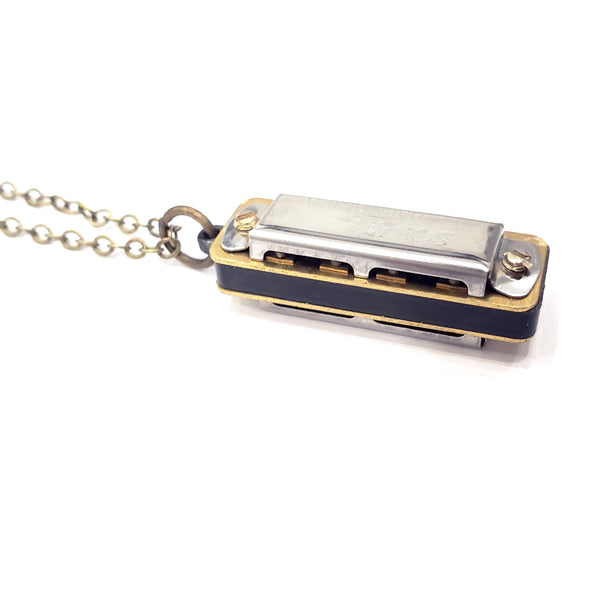 Little Authentic Swan Harmonica Necklace