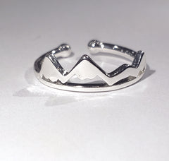 Mountain Peak Adjustable Ring