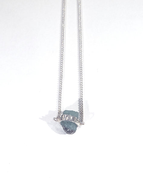 Raw Emerald Wrap Necklace